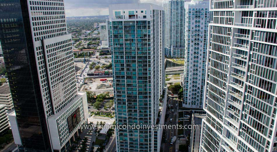 500 Brickell east tower condos aerial