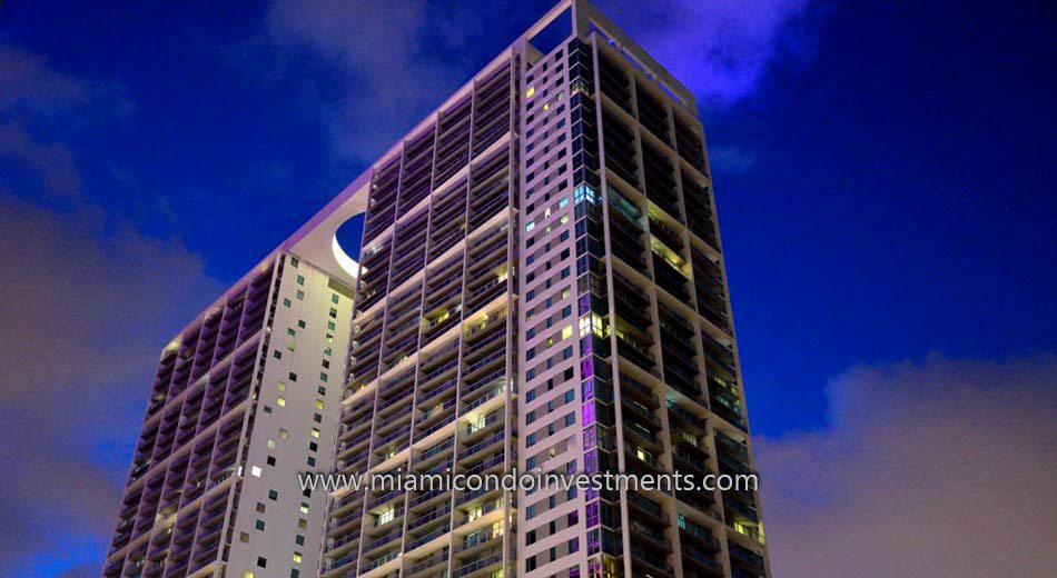 west tower condos at night