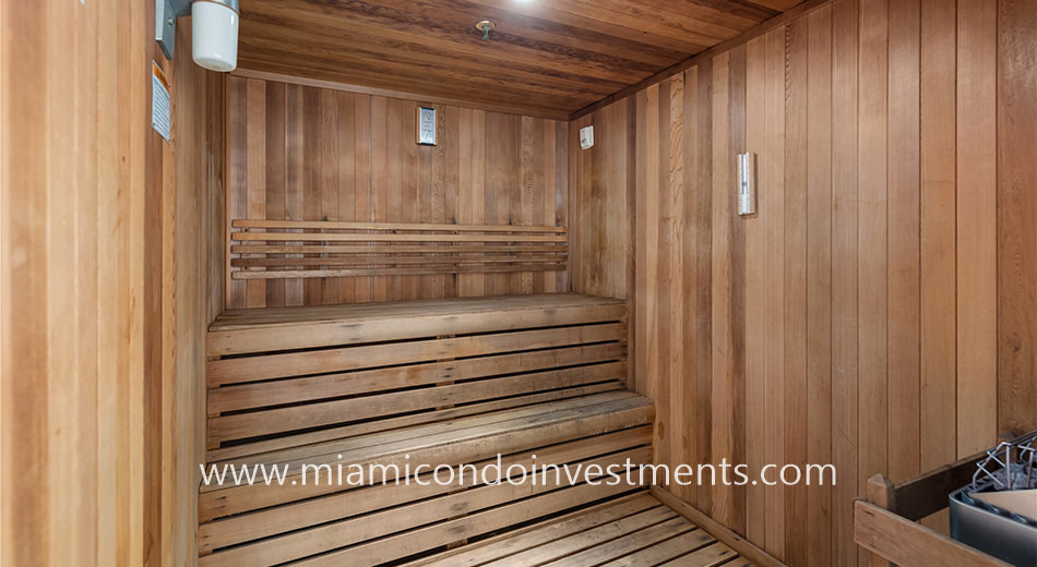 sauna at 500 Brickell