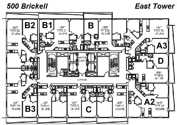 500 Brickell East Tower Site Plan