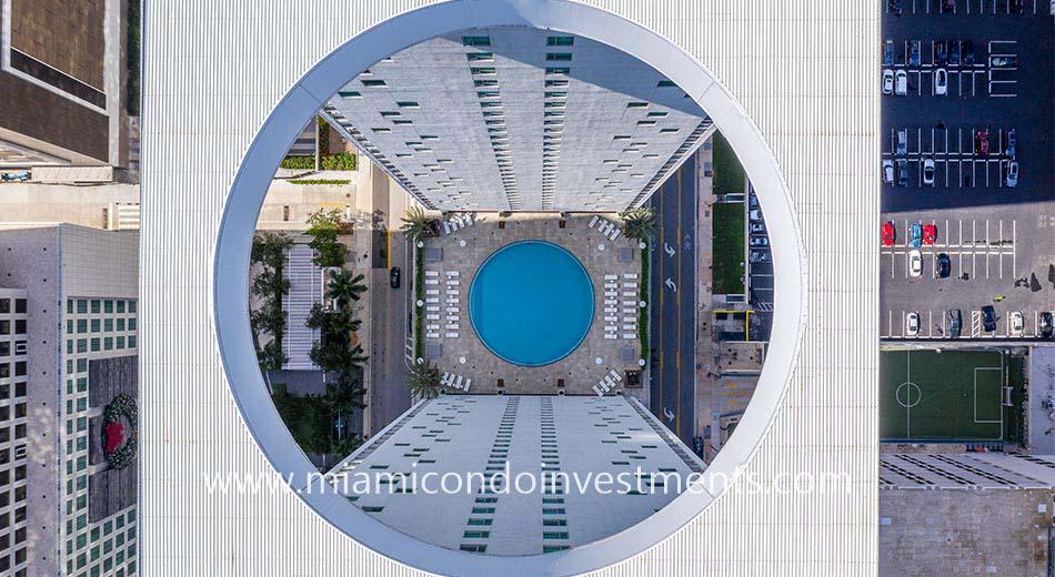 drone photo of 500 Brickell