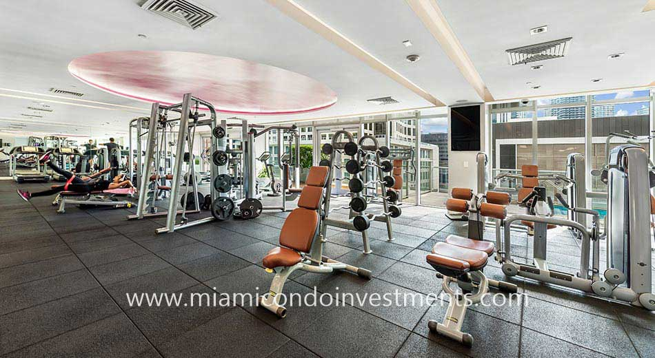 500 Brickell West fitness center
