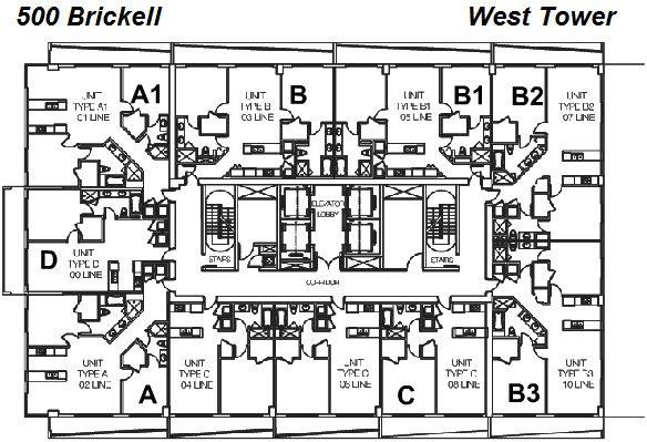 500 Brickell West Tower Site Plan