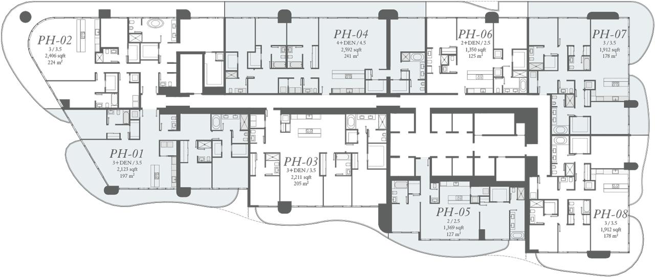 Penthouse Key Plan