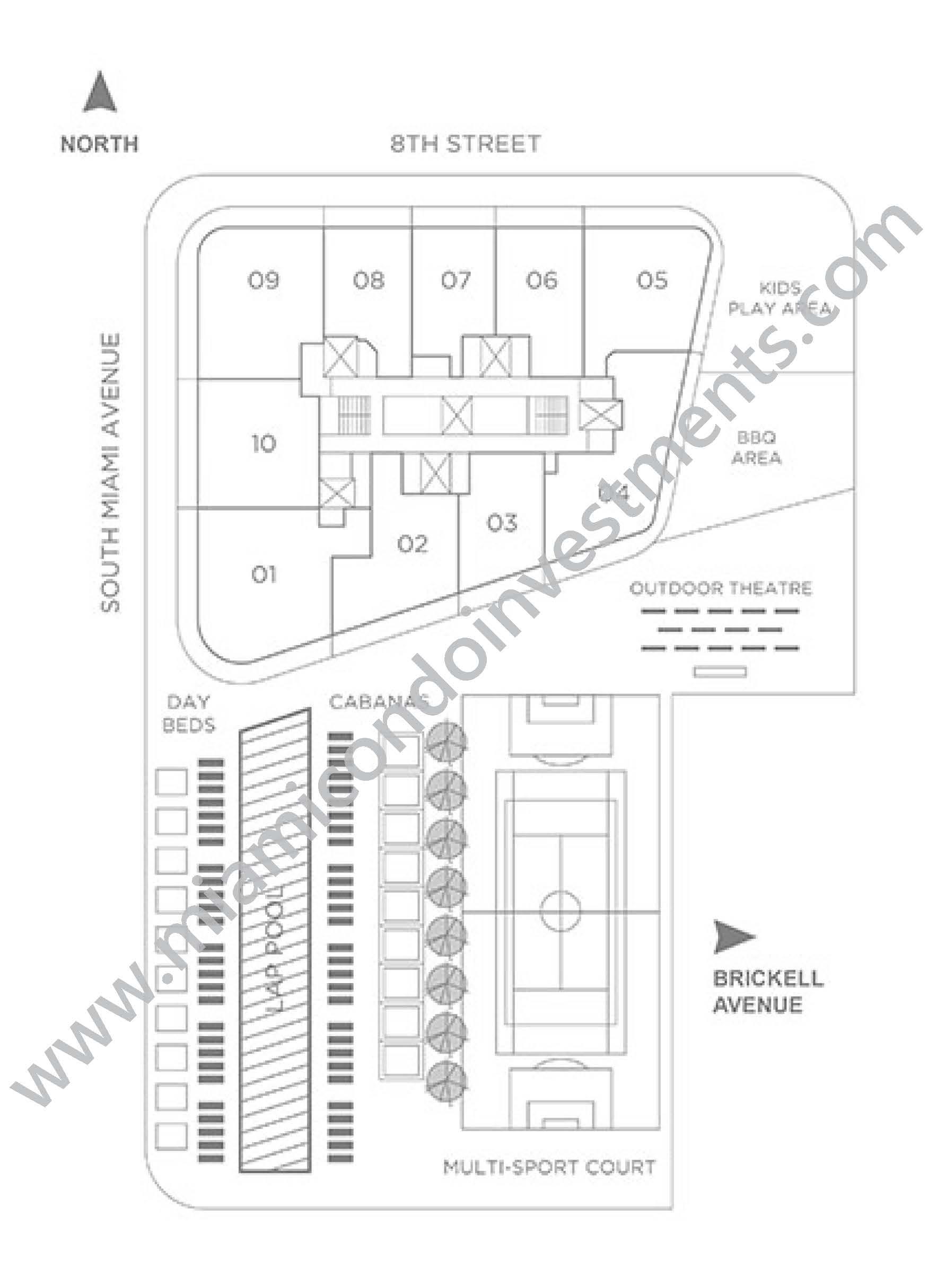 SLS Lux Key Plan