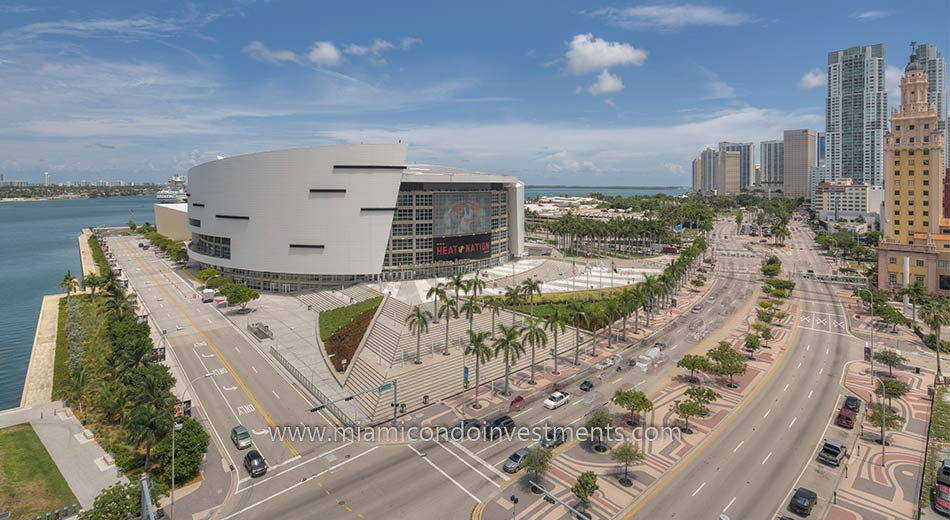 American Airlines Arena in Park West Miami