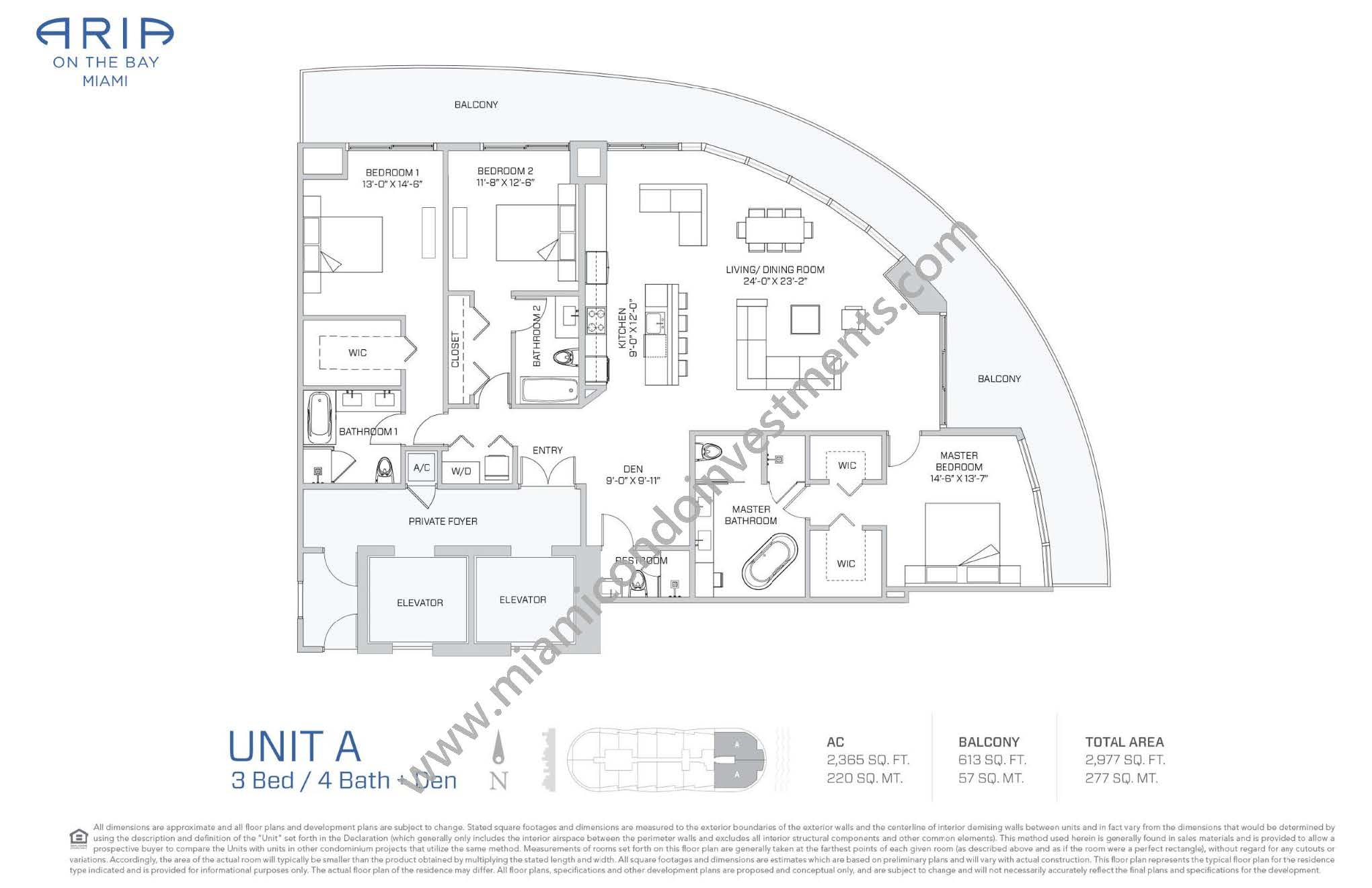 Aria on the Bay 15 Line Floor Plan