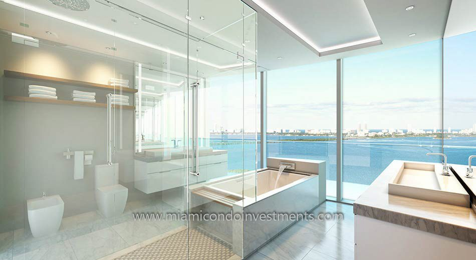 Aria on the Bay master bathroom