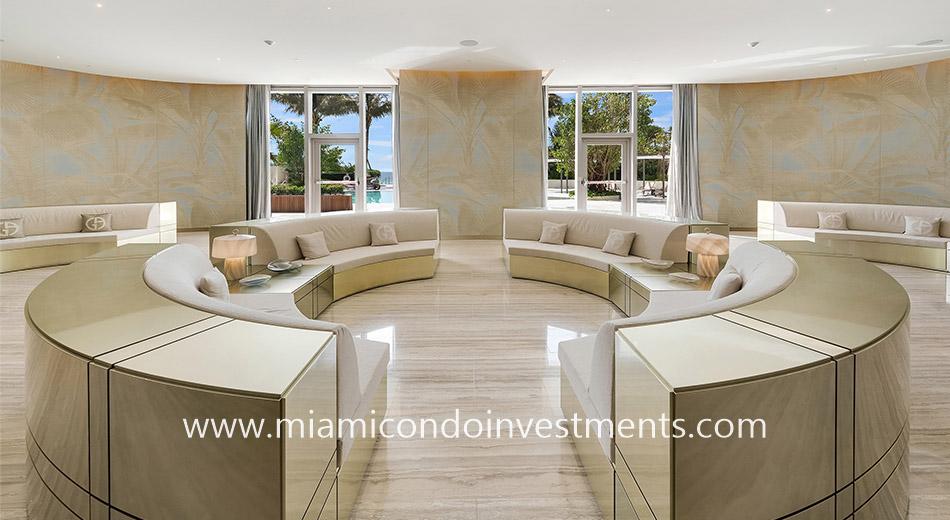 Armani Casa seating area
