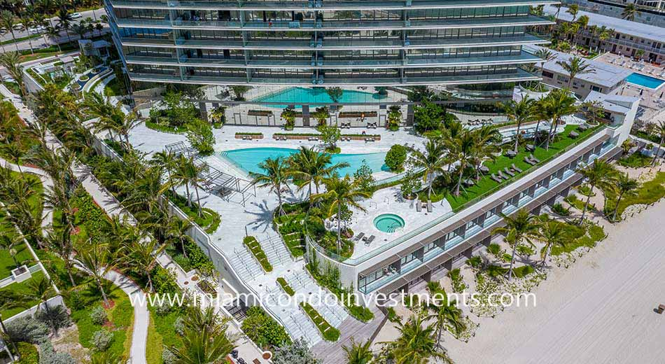 pool deck at Armani Casa Residences