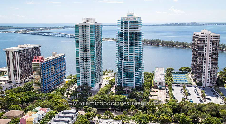 views from Atlantis on Brickell condominiums