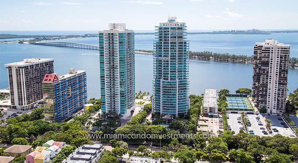 views from Atlantis on Brickell condominiums