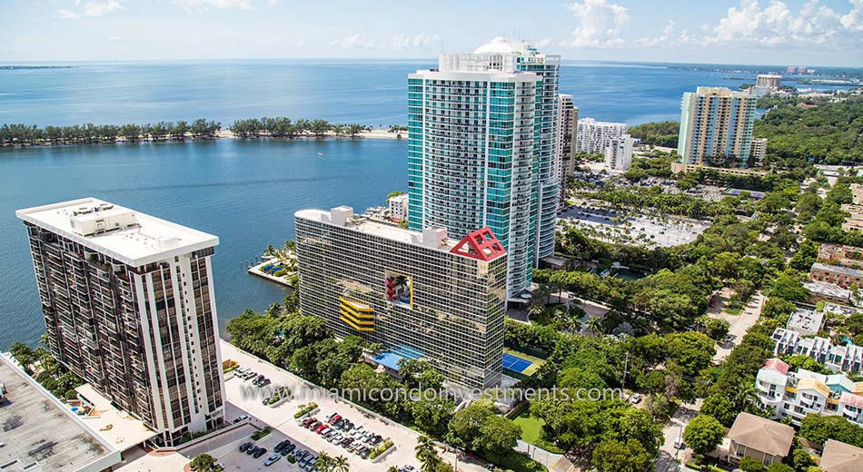 aerial of Atlantis on Brickell condos