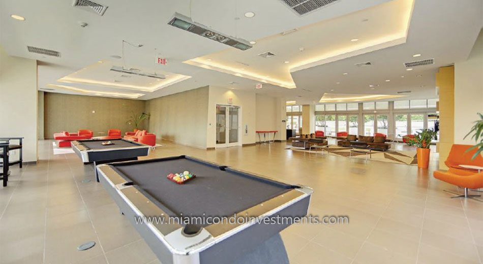 Club room at Axis on Brickell