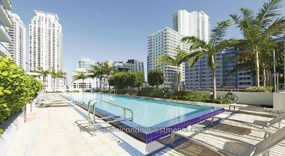 Axis on Brickell lap pool