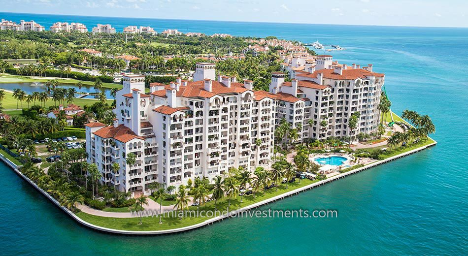Bayview Fisher Island aerial photo