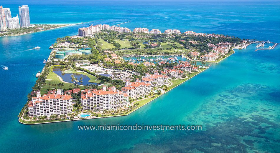 Fisher Island aerial photo