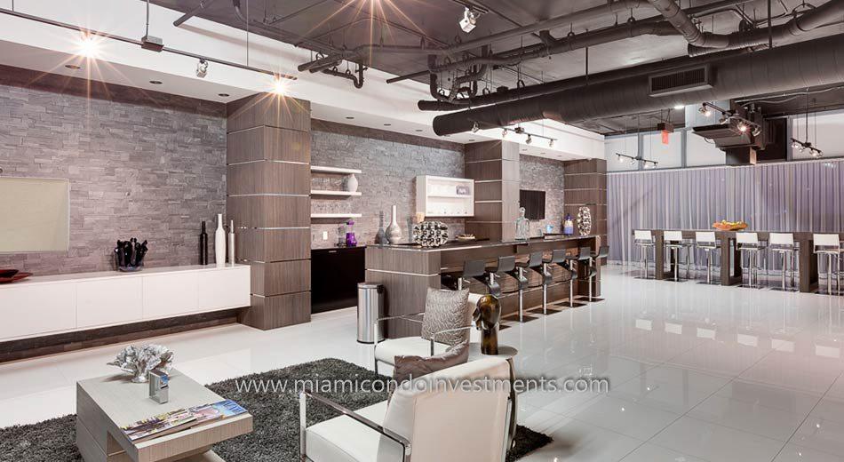 Blue Condominium clubroom