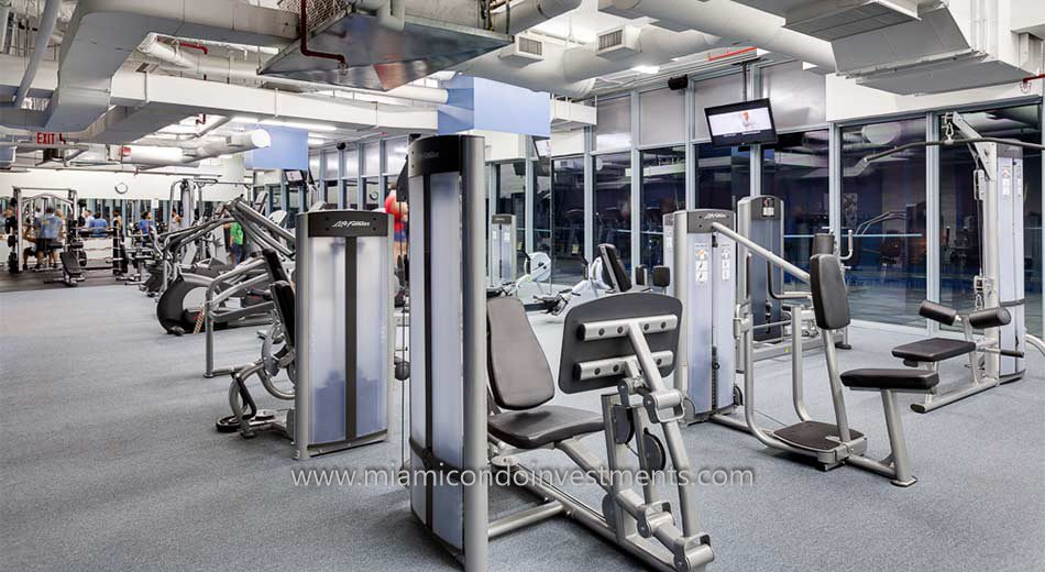 fitness center at Blue Condominium