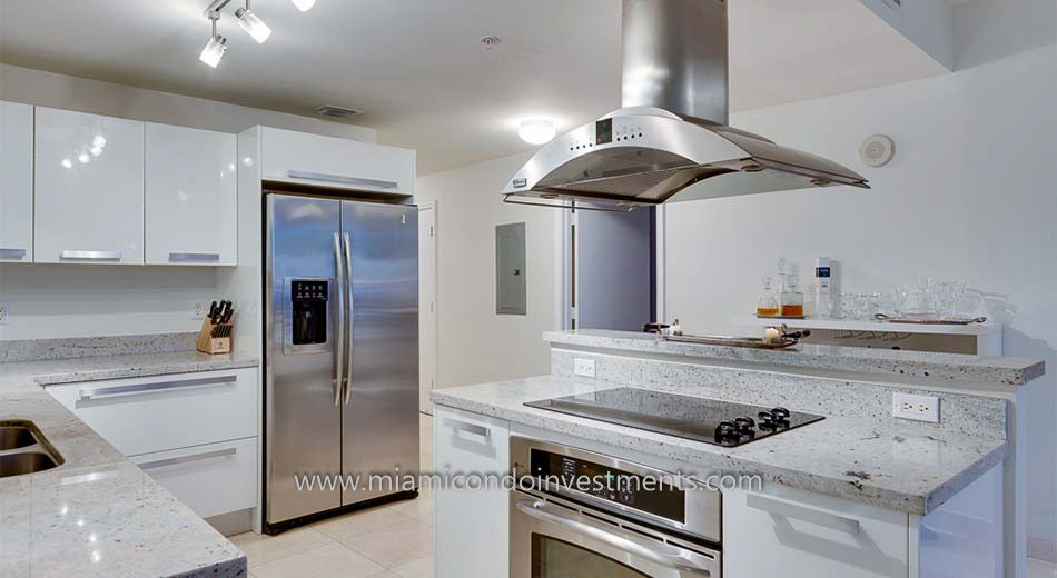 Blue Condominium kitchen