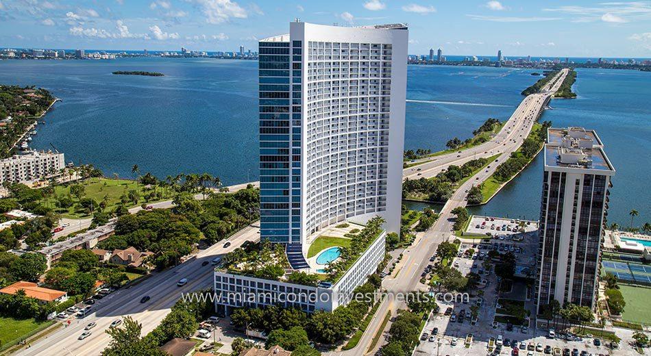 aerial photo of Blue Condominium