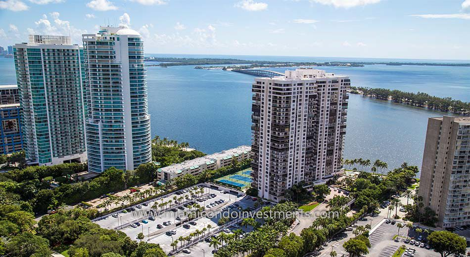 views from Brickell Bay Club condos