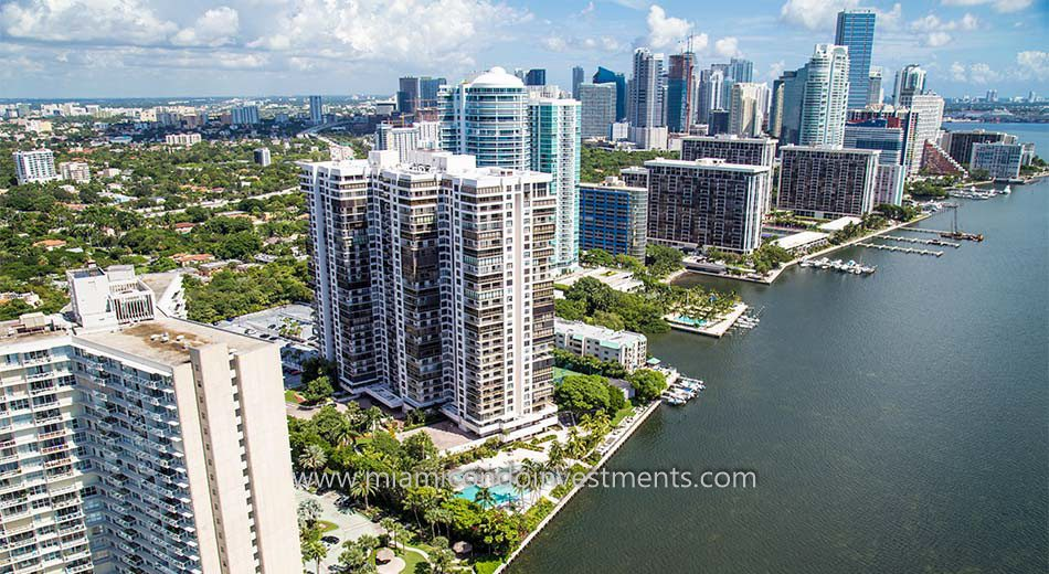 condos at Brickell Bay Club in Miami