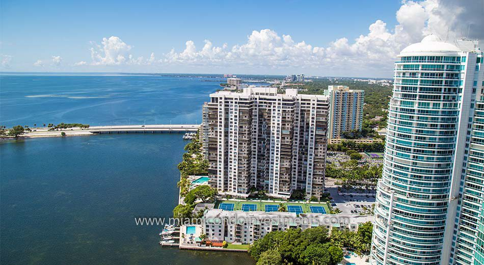 Brickell Bay Club waterfront condo development in Brickell