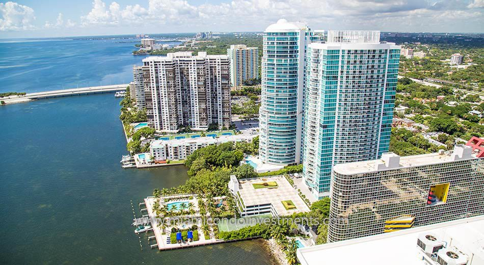 aerial view of Brickell Bay Club