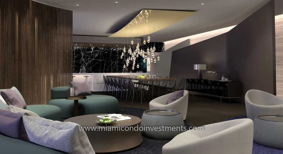 club room at Brickell City Centre Reach