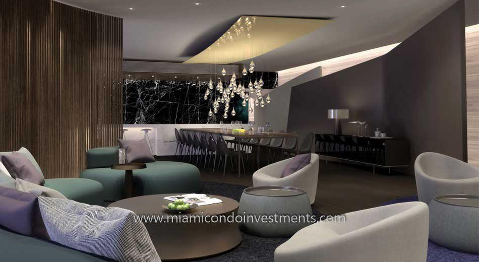 club room at Brickell City Centre Reach