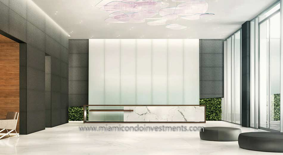 lobby of the Reach tower at Brickell City Centre