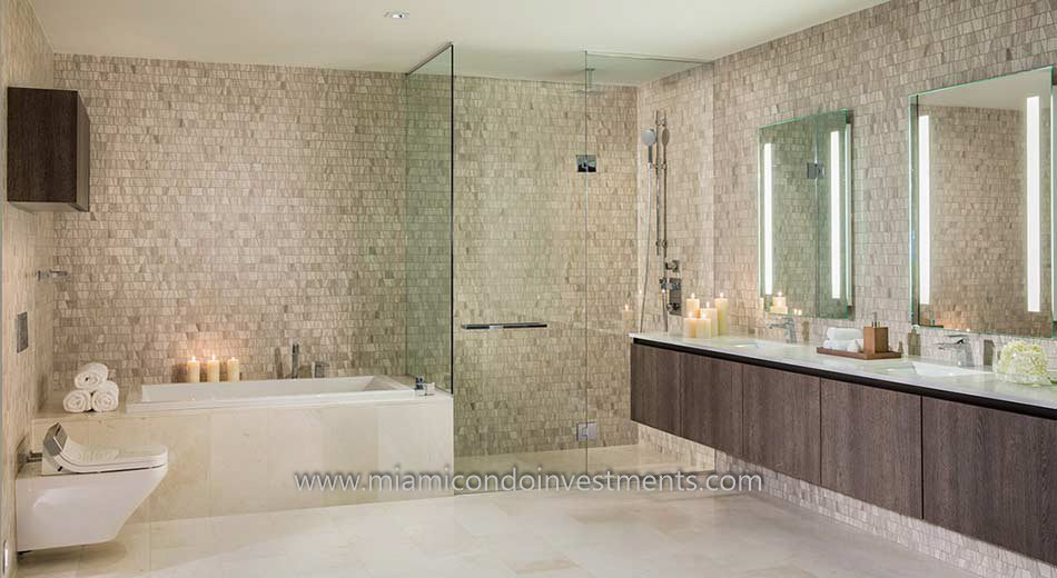 Brickell City Centre Rise master bath