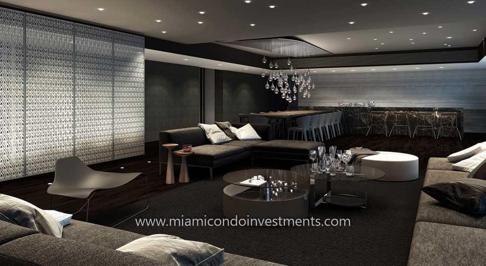 Rise condos club room