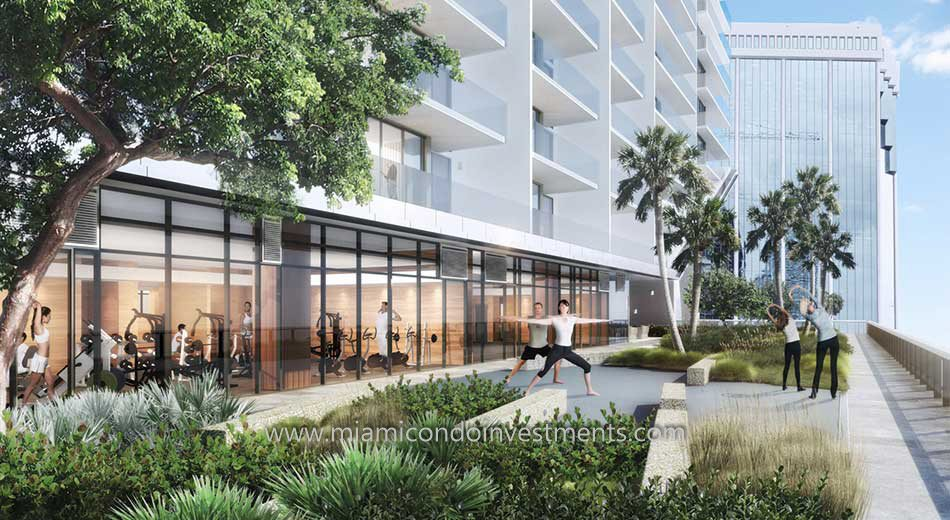 Brickell City Centre yoga and meditation garden
