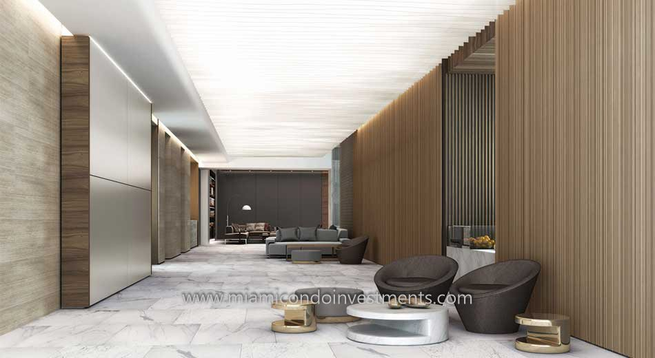 lobby at Brickell City Centre Rise