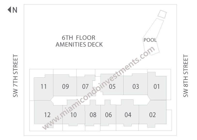 Brickell City Centre Rise site plan