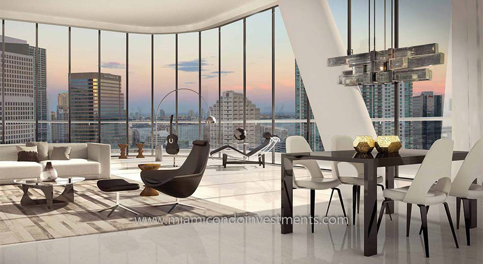 view from Brickell Heights East condos