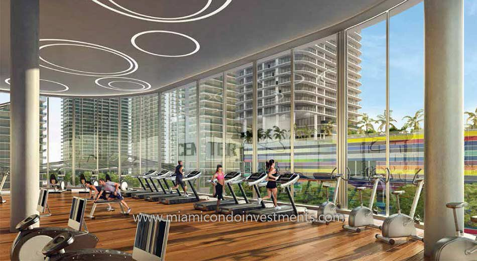 Brickell Heights East fitness center