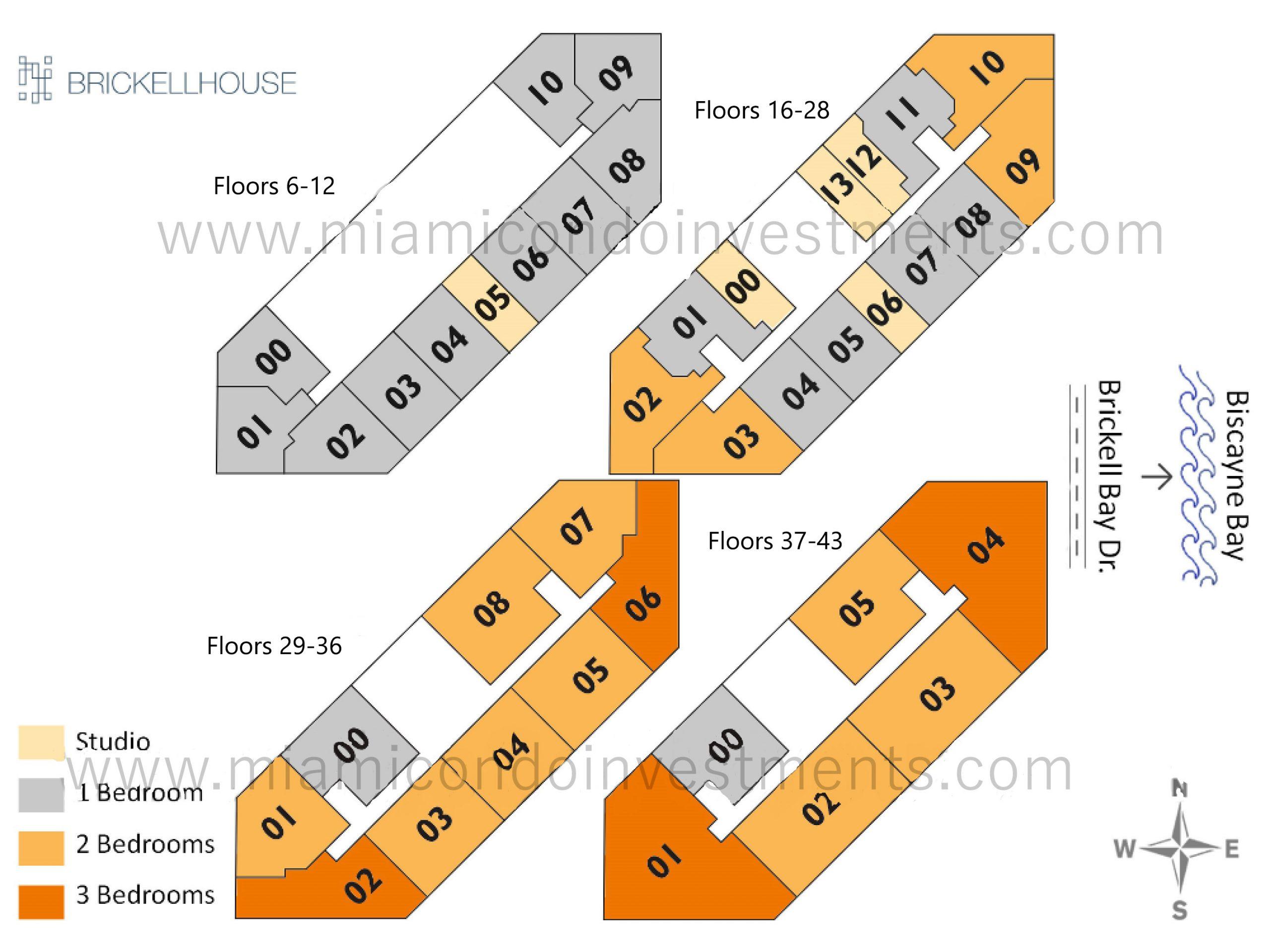 Floorplans 1 - Floors 6-12
