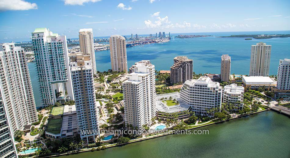 views from Brickell Key One