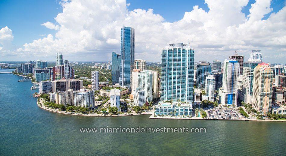 Brickell skyline in Miami Florida