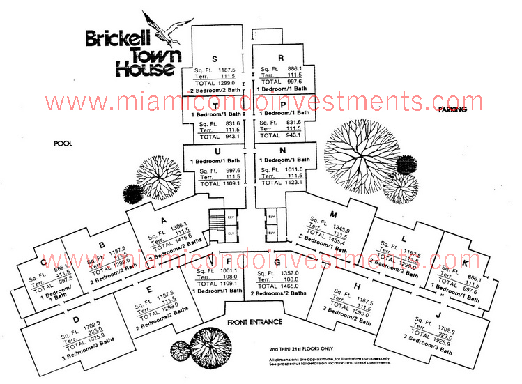 Brickell Townhouse site plan