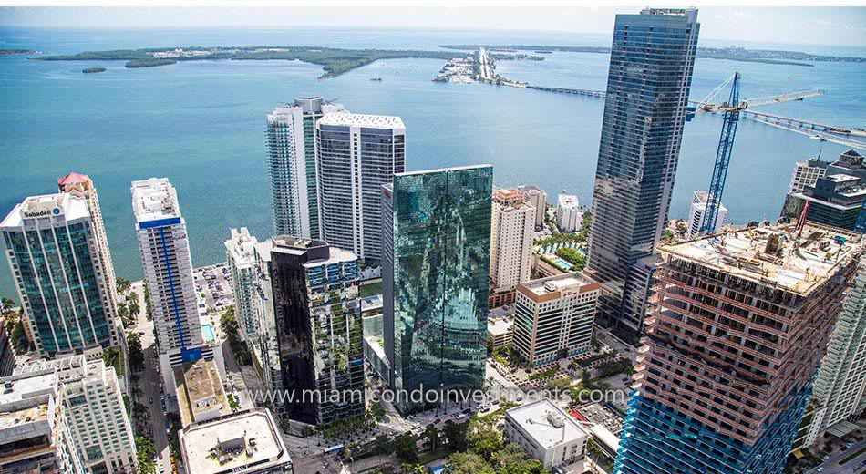 aerial photo of Brickell House