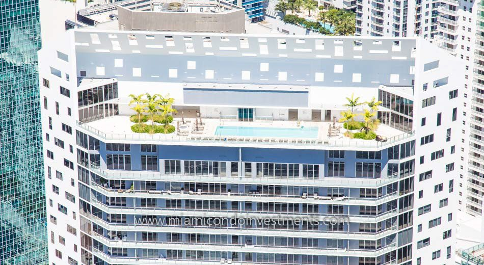 close-up of the rooftop pool at BrickellHouse condominiums