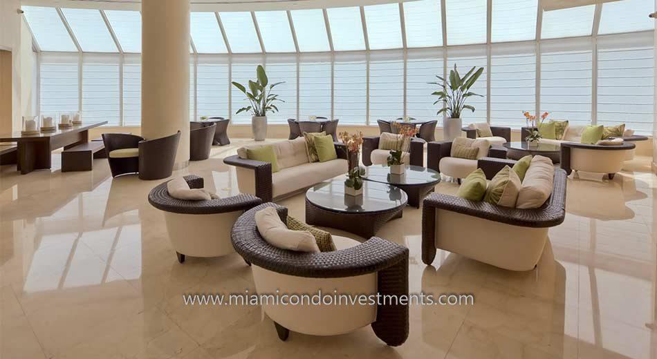clubroom at Bristol Tower condominiums in Miami
