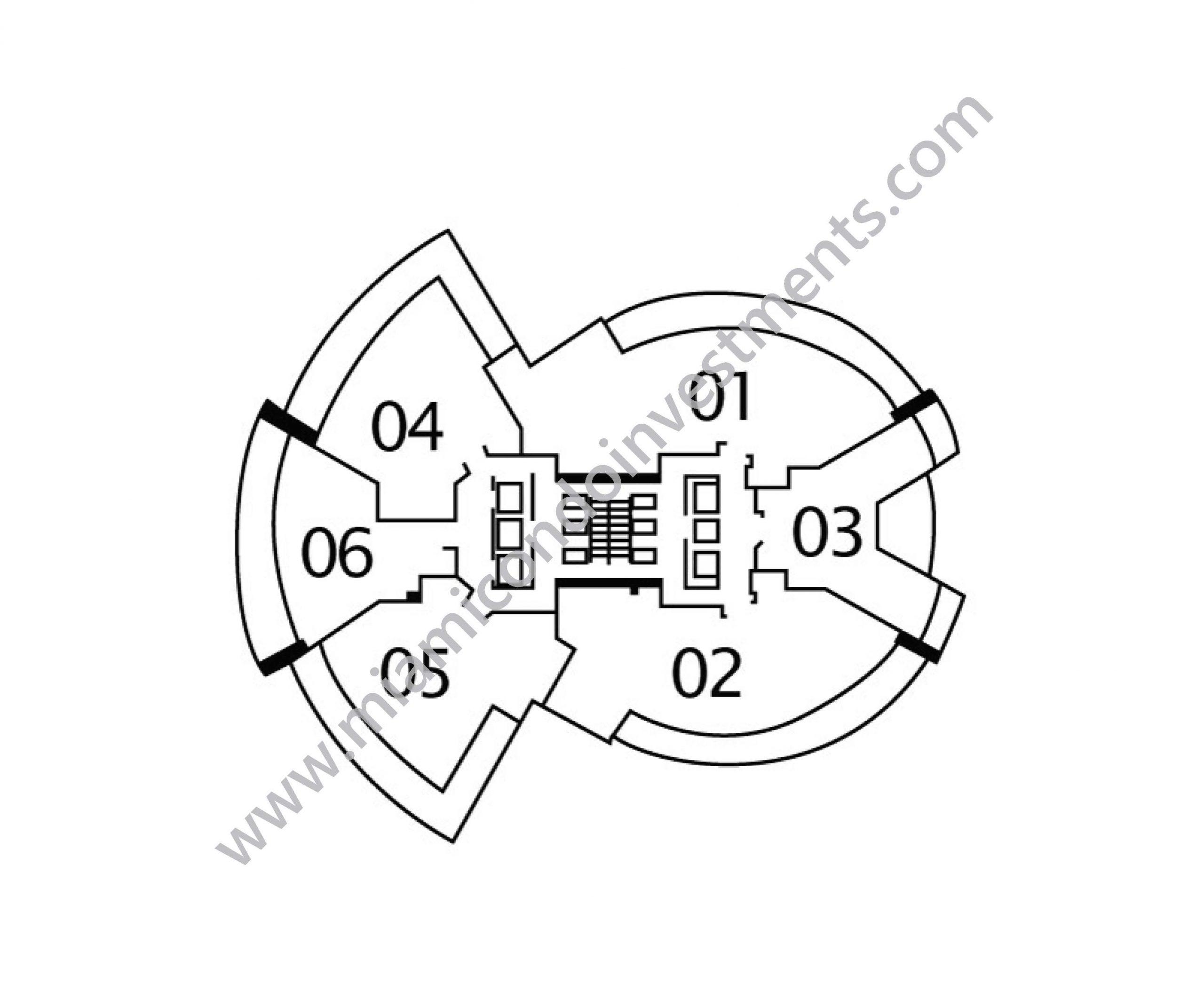 Floorplans 1 - Floors 5 to 19