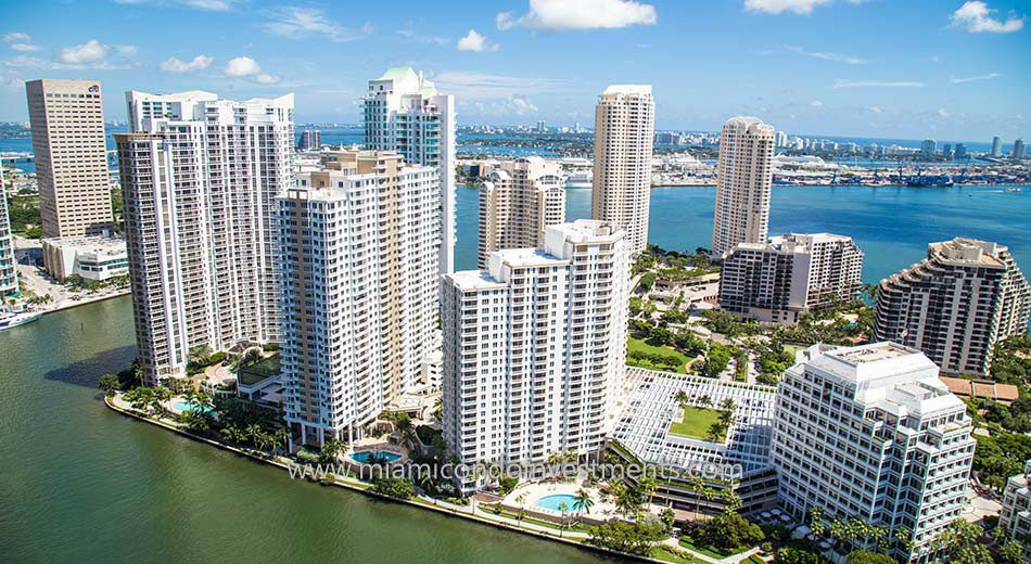 aerial view of Courts Brickell Key