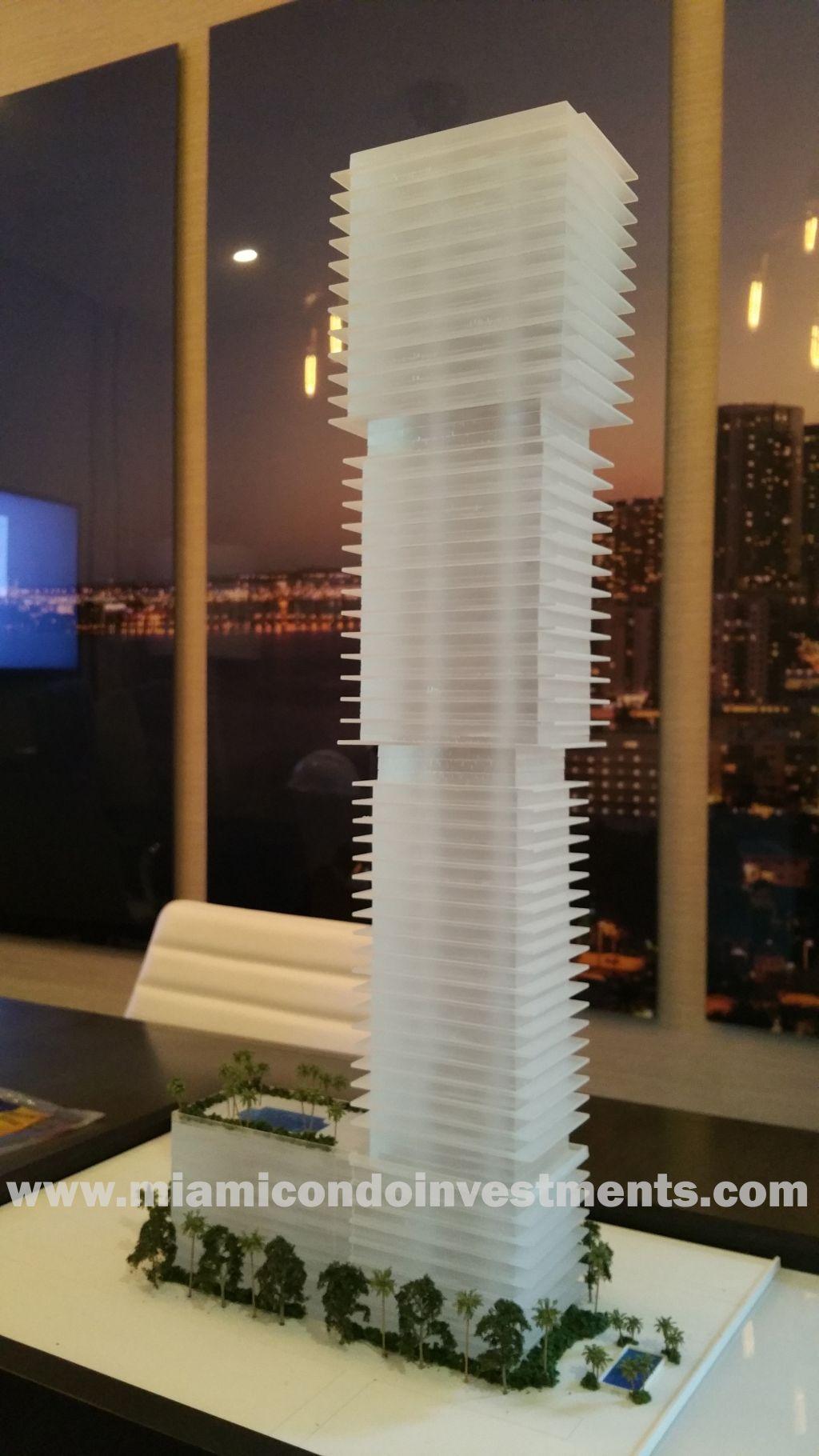 Elysee Miami Condos mini scale model