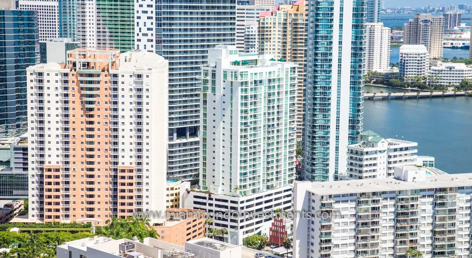 aerial photo of Emerald at Brickell
